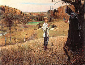 The Vision of the Boy Bartholomew by Mikhail Nesterov